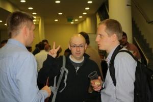 Od lewej: Tomek z Irlandii, Michał oraz ja